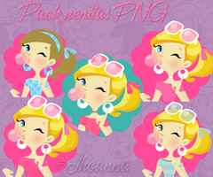Pack Nenas PNG by JhoannaEditions