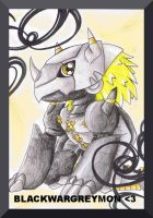 ::Chibi BlackWarGreymon:: by Lifad