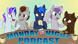 Monday Night Podcast - Banner Art by Graystripe64