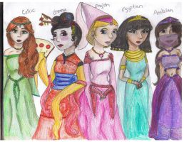 World of Princesses by MousieDoodles