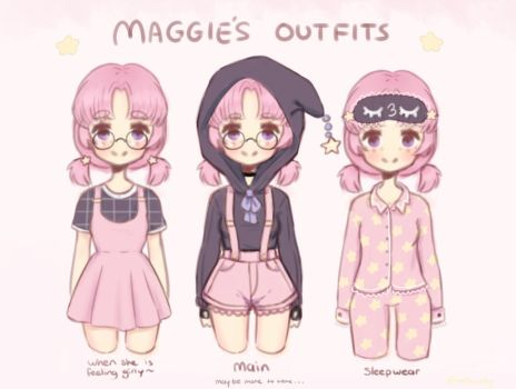Maggie's outfits~ by mellowshy