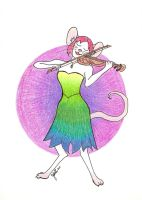 She plays her Violin by Jshei