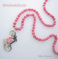 Beaded Rhodochrosite Sunrise by jessa1155