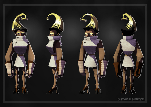 Character Design - Mad Scientist : The Scientist's by TheFraggDog