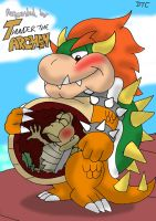 REQUEST: Internal Belly Rub for Bowser by Dan-the-Countdowner
