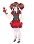 Hito Riaru - Full body 3/4 Reference by Gnizam-P