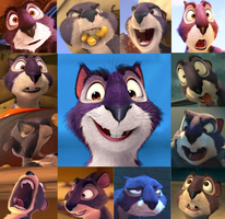 The Nut Job - Surly faces by the-acorn-bunch
