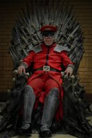 M. Bison takes the Iron Throne - Street Fighter V by robthez