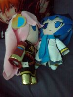 Pink and Blue plushie by MrL3821