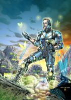 Sci-fi Steve color by SpiderGuile