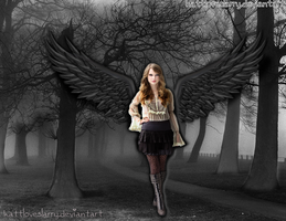 She is a Fallen Angel - Fotomontaje by KattLovesLarry