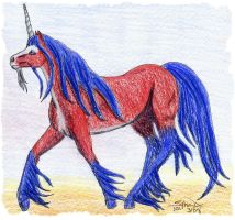 Optimus Prime as a Unicorn by Sphinx47