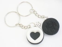 Oreo BFF Key Chain Made With Love by SaphirazlilJewels