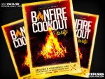 Bonfire Cookout Party Flyer by Industrykidz