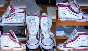 Naruto shoes: WIP by Feiuccia