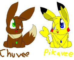 chuvee and pikavee by the-doodle-queen