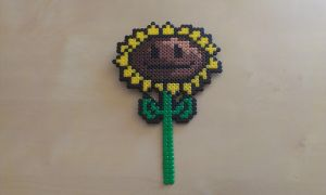 Sunflower in Perler by RavenTezea