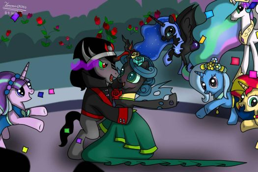 queen chrysalis and king sombra by Terezas474747