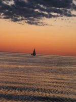 Sailing Sunset Lake by AllyCatastrophe