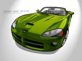 Dodge Viper SRT-10::Vector art by Redxibi