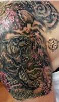 Mother Tiger Tattoo done by Sean Ambrose by seanspoison
