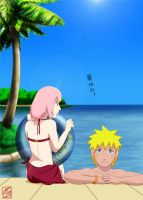 NaruSaku- the summer holidays by Martusia-Nina