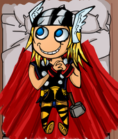 Thor likes beds by nupao