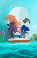 GHIBLI: WE'RE ON A BOAT by kirayukari