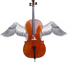 Winged Cello by LetItBeRiceball