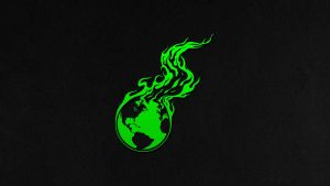 Burning Earth Wallpaper Green 3840x2160 by imaximus