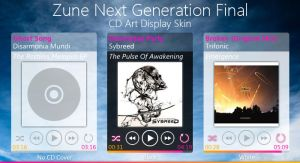 Zune Next Gen CD Art Display by Fi3uR