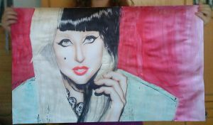 Just a little drawing Lady Gaga by turanneth