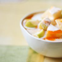 Chopped apple and yogurt by brunettitude