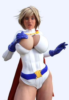 Power Girl Costume Malfunction by DolphinCoreX