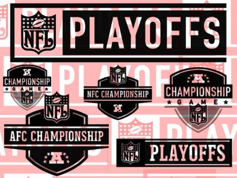 NFL Playoff Brush Pack by UneekResources