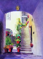Tuscan Stairway by AlanCross