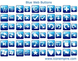 Blue Web Buttons by Ikonod