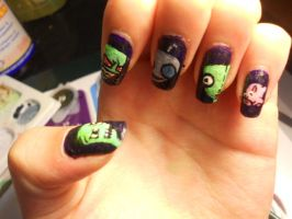 Invader Zim Nails. -2 by marissa287