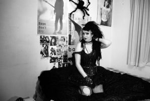 Monsta and the wall of goth by minnaloushe