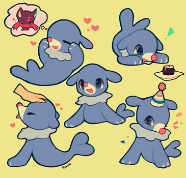 Popplio by foxlett