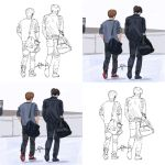 Luhan Kris Airport Style Sketch And Coloring by vitanastasia