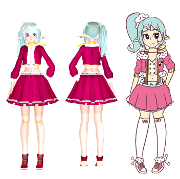 yume cvvc design tda mmd model by silvereevee132