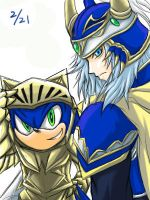 Sonic and WOL: Blue Knights by maruringo