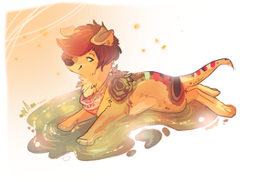 Warm puddle :3 by Endber
