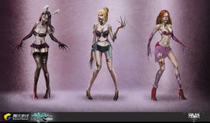 NZ_Zombie Girls by liuyangart