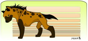 Hyena colored by KM-cowgirl
