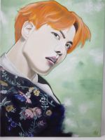 J-Hope - Painting (fanart) by ImmortalBerry