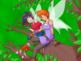 Melna and Vera by Animeartist569