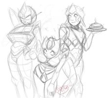 Auto Girls sketch by blackheartedhate