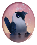 Shiny Not-So-Amused Jackdaw by Domisea